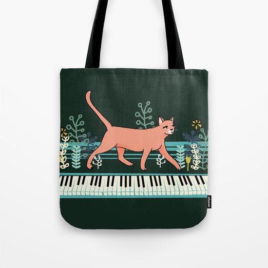 Kitten on the Keys Tote Bag