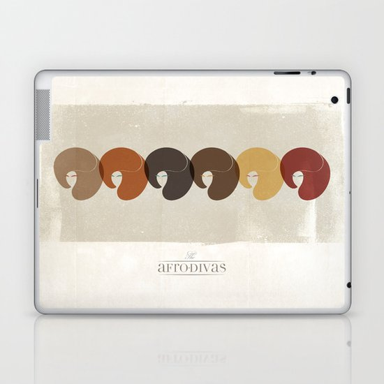 The Afro Divas Laptop & iPad Skin