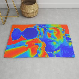 American Sniper Chris Aming Artistic Illustration Thermal Viewer Style Rug
