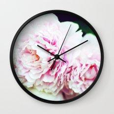 Peony Garden Splendor I Wall Clock