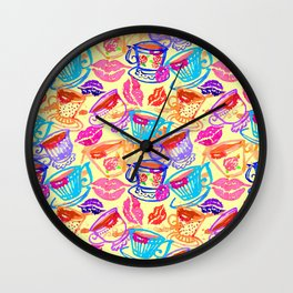 Cup of Conversation Wall Clock
