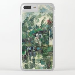 Paul Cezanne, At the Water's Edge,1890 Clear iPhone Case