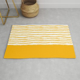 Watercolor Lines Yellow Rug