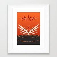 evangelion Framed Art Prints featuring The End of Evangelion by Gershom Charig