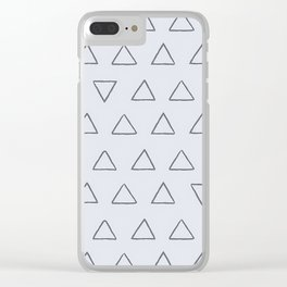 Simple Triangles Pattern Clear iPhone Case