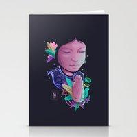 namaste Stationery Cards featuring Namaste by Art Elf