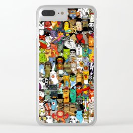 Funny Characters Collage — Culture & Science By Cats Clear iPhone Case