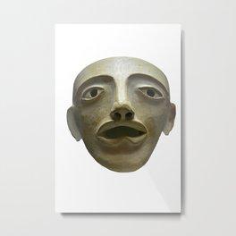 Ancient Greek Actors Mask Metal Print