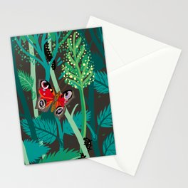 Peacock butterfly and nettlle Stationery Cards