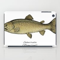 trout iPad Cases featuring Brown trout by Eugenia Hauss