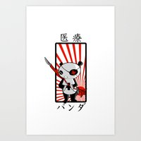 medical Art Prints featuring Medical Panda by PweT