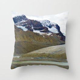 Athabasca Glacier in the Columbia Icefields, Jasper National Park Throw Pillow