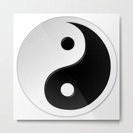 Yin Yang Symbol Metal Print