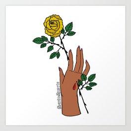 Stigmata Rosa - Coatlicue Art Print