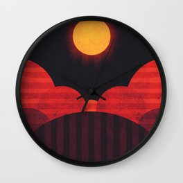 Mercury - Wrinkle Ridges Wall Clock