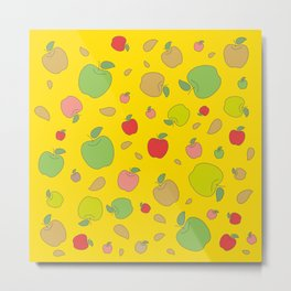 Autumn apples. Bright colors Metal Print