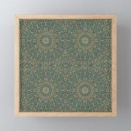 Moroccan Style Pattern Mandala Framed Mini Art Print