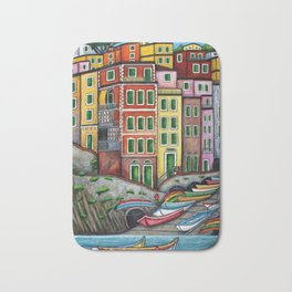 Colours of Riomaggiore Bath Mat