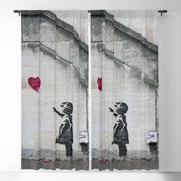 Girl with Balloon - copy of Banksy | Street ART | Blackout Curtain