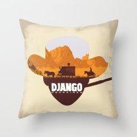 django Throw Pillows featuring Django Unchained by TxzDesign