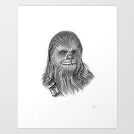 Wookiee Chewbacca Art Print