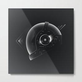 Space Helmet Metal Print