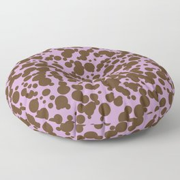 Bubbles in the Batter - Lavender-Chocolate Floor Pillow
