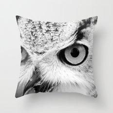 Owl Close-up Throw Pillow