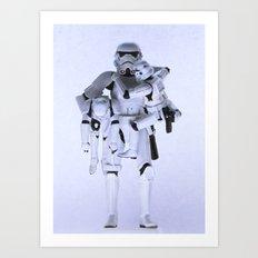 Trooper with Kids Art Print