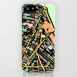 Abstract Map Cambridge MA iPhone Case