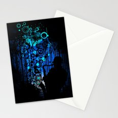 In the Keynote of Blue Stationery Cards