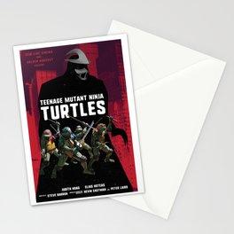 TMNT and Shredder alternative movie poster Stationery Cards
