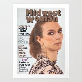 Midwest Woman Magazine Cover Parody Art Print