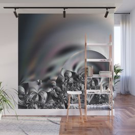 Complexity under smooth simplicity - Abstract play with focus Wall Mural