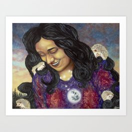 The Poetess Art Print