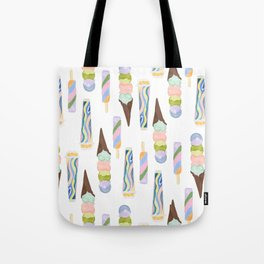 Colorful Ice Cream Tote Bag