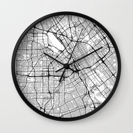 San Jose Map White Wall Clock