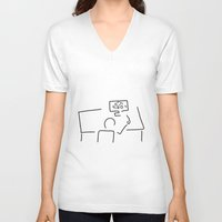 engineer V-neck T-shirts featuring mechanical engineering engineer by Lineamentum
