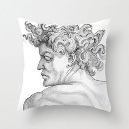 Ignudi. after Michael Angelo Throw Pillow