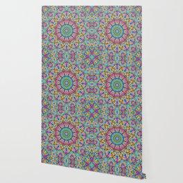 Colorful kaleidoscope flowers Wallpaper
