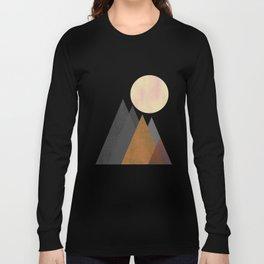 The Gathering, Geometric Landscape Art Long Sleeve T-shirt