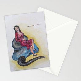 Paper Doll Two Stationery Cards