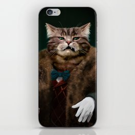 Arrogant sophisticated dressed cat boss looking with contempt iPhone Skin