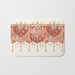 Royal Red Art Deco Double Drop Bath Mat