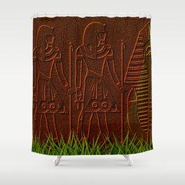 Ancient egyptian graffiti ... Shower Curtain