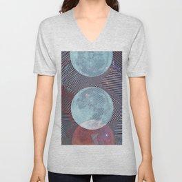 Techno Moon Unisex V-Neck