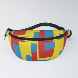 Yellow - Blue - Red Fanny Pack