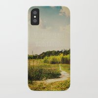 not all who wander are lost iPhone & iPod Cases featuring not all those who wander are lost by Sybille Sterk