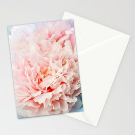 Peony Flower Photography, Pink Peony Floral Art Print Nursery Decor A Happy Life  - Peonies 1 Stationery Cards