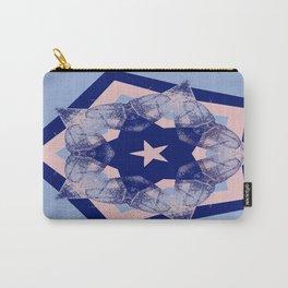 Tilting Serenity Rose Quartz Star Carry-All Pouch